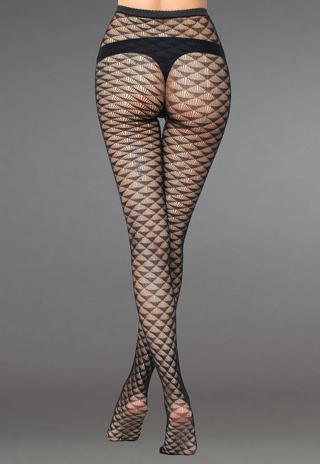 Avery Bodice & Dotted Suspender Bodystocking by LivCo
