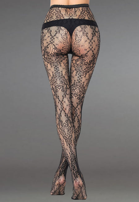 Misha Animal Patterned Lace Tights by Gabriella