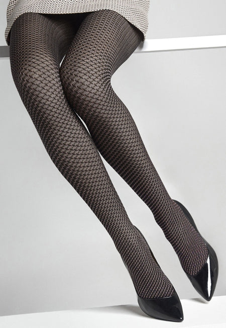 Ar Pizzo Sissi Floral Fishnet Hold-Ups by Veneziana
