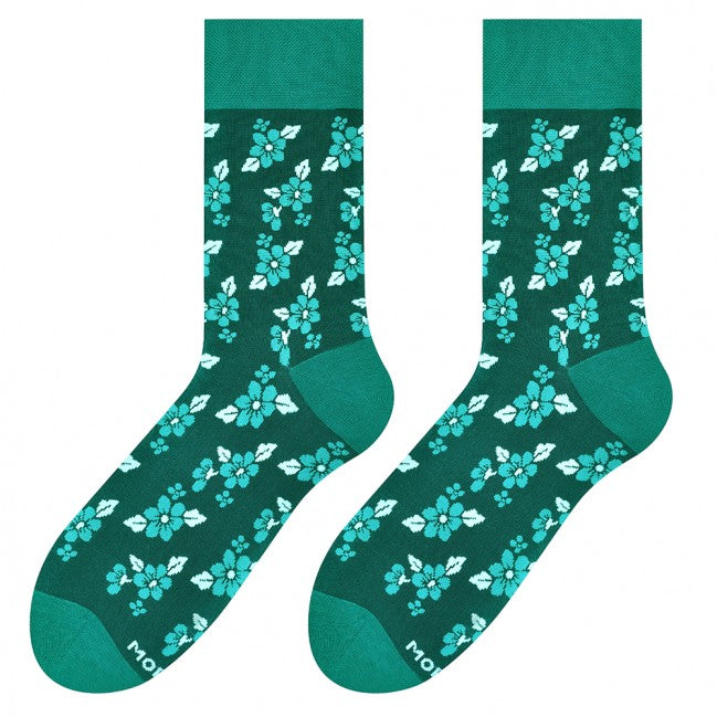Flowers Socks in Green by More