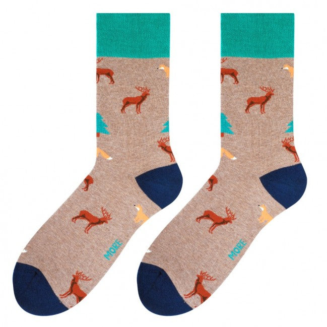 Forest Socks in Beige by More