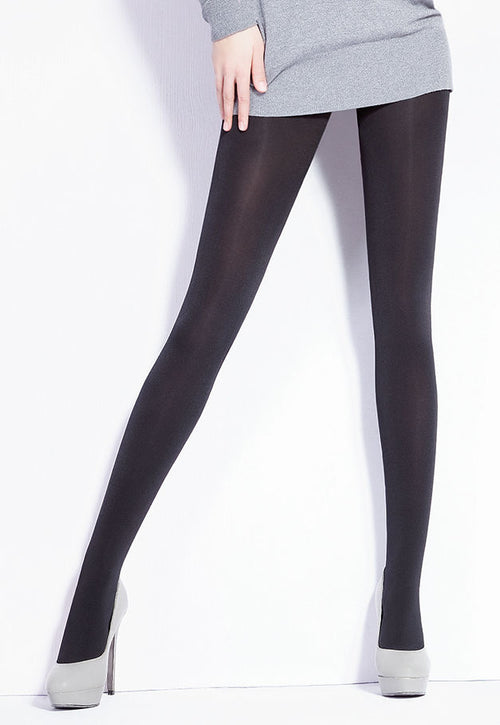 Galaxy 120 Den Glossy Opaque Tights by Giulia in black