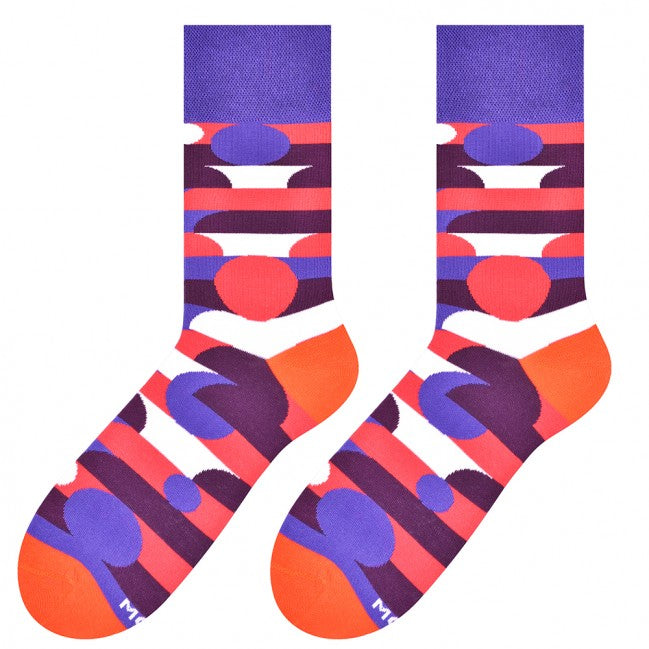 Geometry Socks in Purple by More