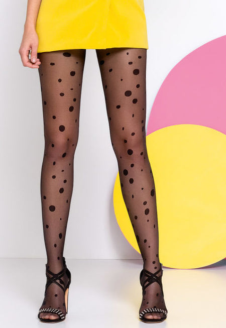Impressa Houndstooth Patterned Sheer Tights by Fiore