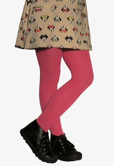 Girls' Smooth Combed Cotton Coloured Tights by Steven