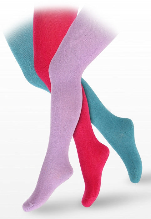 Girls' Smooth Combed Cotton Coloured Tights by Wola