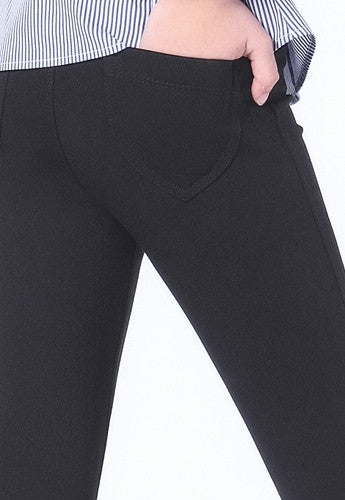 Girls' Skinny Fit Treggings with Back Pockets