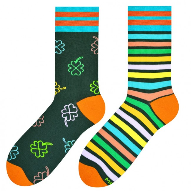 Good Luck Odd Socks in Green by More