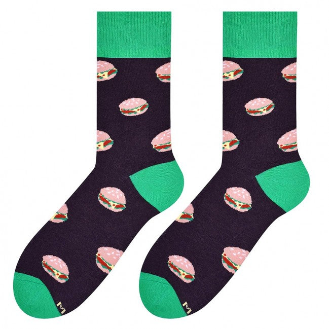 Burger Socks in Dark Brown by More