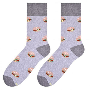 Burger Socks in Light Grey by More