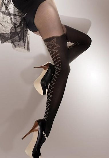 Bombardino Mock Over-Knee Sock Tights by Fiore