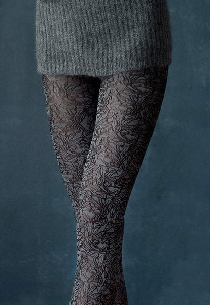 Juliet Floral Patterned Opaque Fashion Tights by Fiore