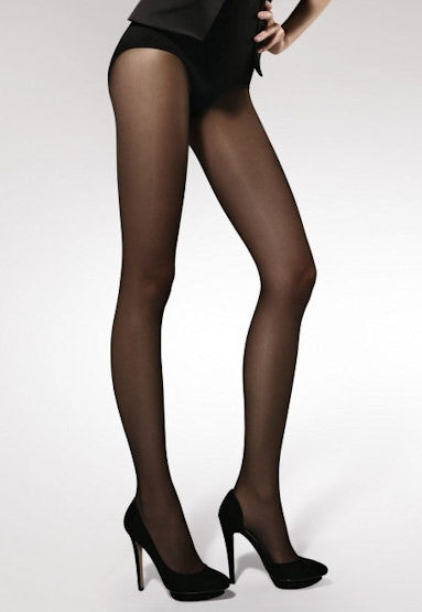 Carmen Open Crotch Seamed Sheer Tights by Gabriella