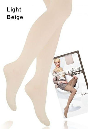 Laura Cotton Rich Opaque Tights in Light Beige