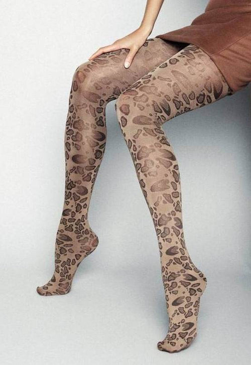 Leopardo Animal Print Fashion Tights by Veneziana