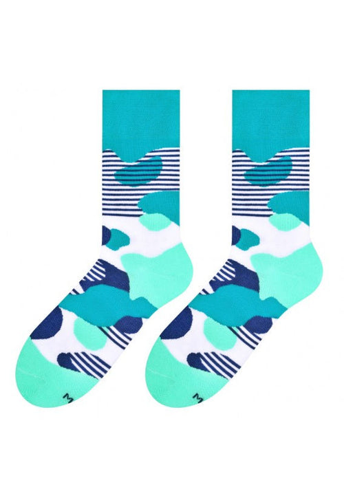 Liquid Blobs Patterned Socks in Teal, Navy, Mint by More