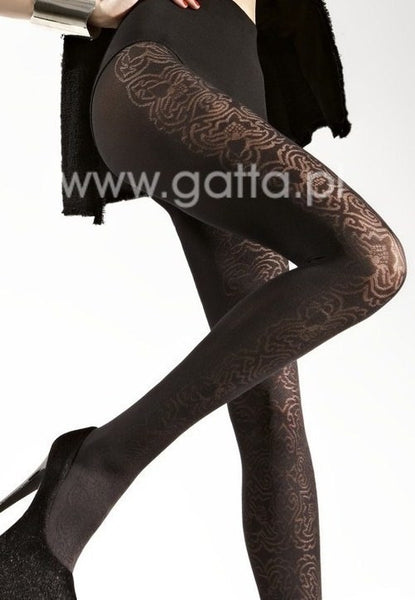 Loretta 76 Baroque Patterned Fashion Tights by Gatta