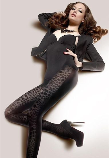 Loretta 91 Animal Print Lace Patterned Tights by Gatta
