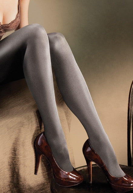 Jade Polka Dot Textured Opaque Tights by Veneziana