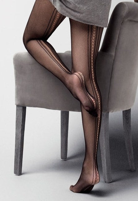 Luisa Fishnet Backseam Fashion Tights by Veneziana