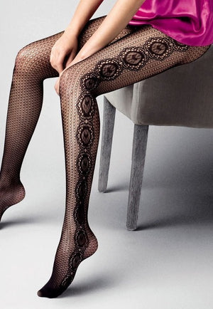 Margherita Lace Fishnet Fashion Tights by Veneziana