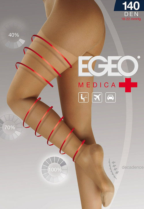 Medica 140 Denier Compression Support Tights by Egeo