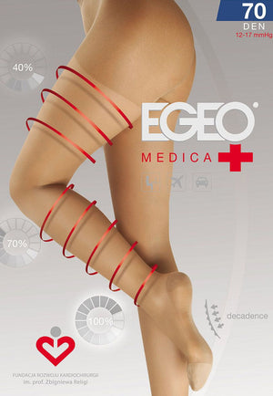 Medica 70 Denier 12-17mmHg Compression Support Tights by Egeo