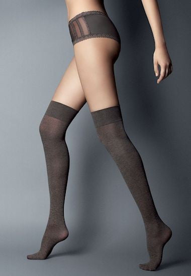 Melange Fashion Over-Knee Socks by Veneziana