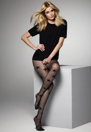 Melody Stars Patterned Sheer Tights by Veneziana