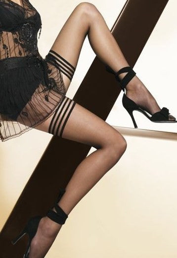 Michelle 15 Denier Sheer Triple Band Hold-Ups by Gatta