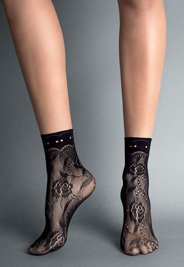 Milano Lace Fashion Ankle Socks by Veneziana