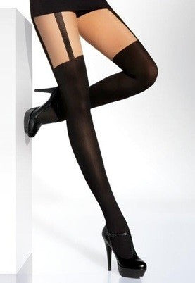 Calzerotto Mock Over-Knee Sock Fishnet Tights by Veneziana