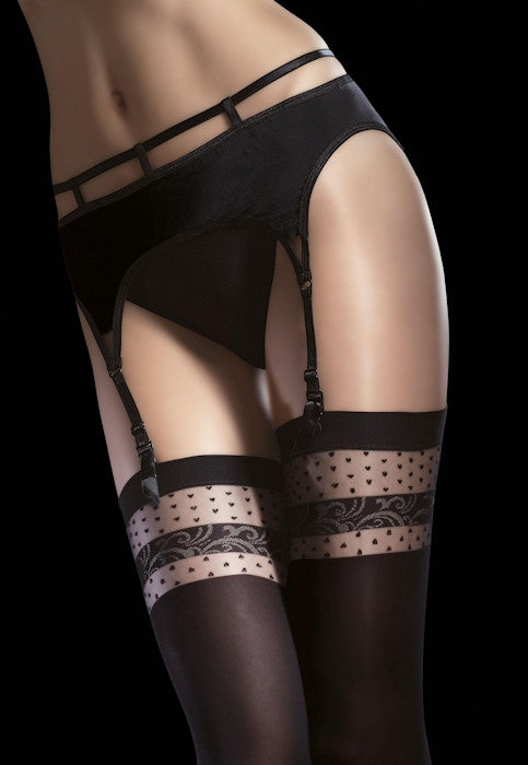 Nell 40 Denier Opaque Wide Welt Stockings by Fiore