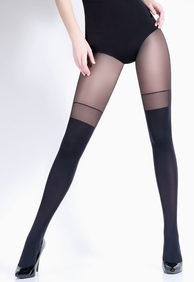 Pari 23 Mock Hold-Ups & Sheer Welt Tights by Giulia