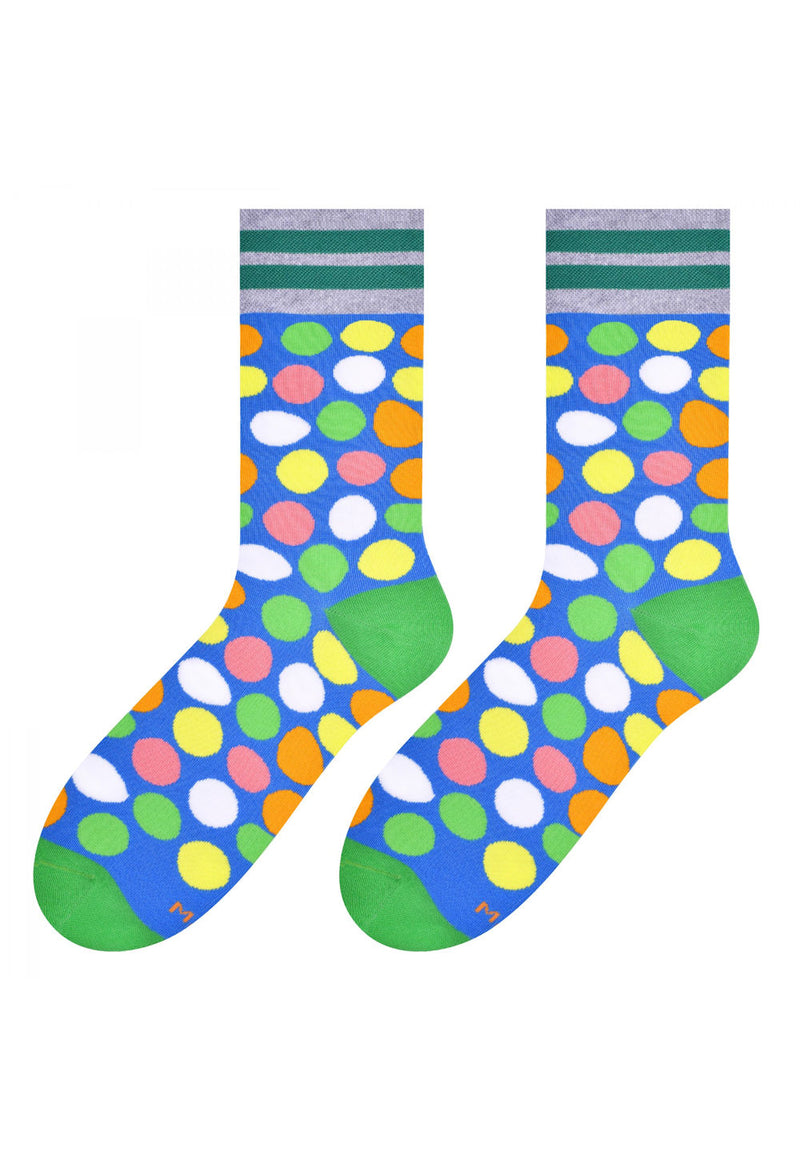 Colourful Pebbles Patterned Socks in Blue by More