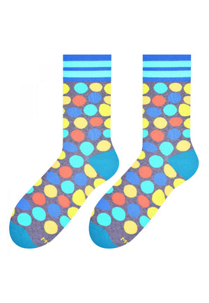 Colourful Pebbles Patterned Socks in Marl Grey by More