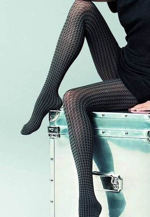 Pepitone Houndstooth Patterned Tights by Veneziana