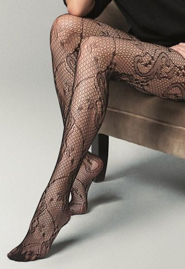 Pizzo Sissi Lace Fishnet Fashion Tights by Veneziana