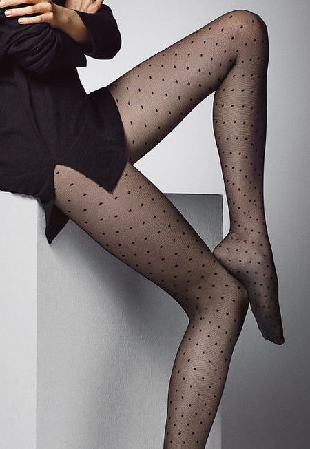 Leticia Contrast Seam & Welt Sheer Stockings by Veneziana