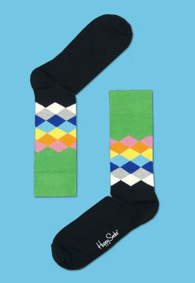 Rainbow Faded Diamonds Socks by Happy Socks