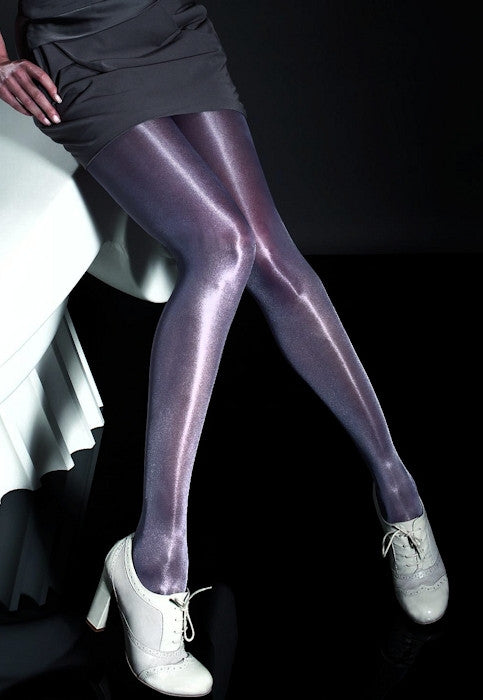 Raula 40 Den High Gloss Shiny Opaque Tights by Fiore