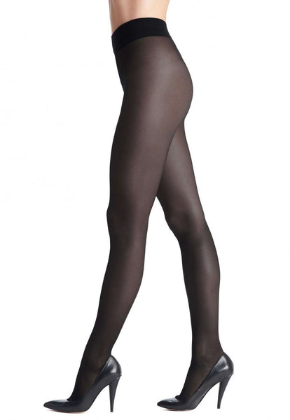 Repos 70 Den Medium Compression Support Tights by Oroblu in Black