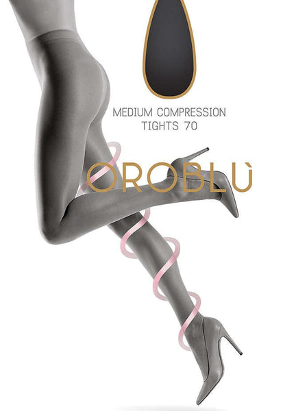 Repos 70 Den Medium Compression Support Tights by Oroblu
