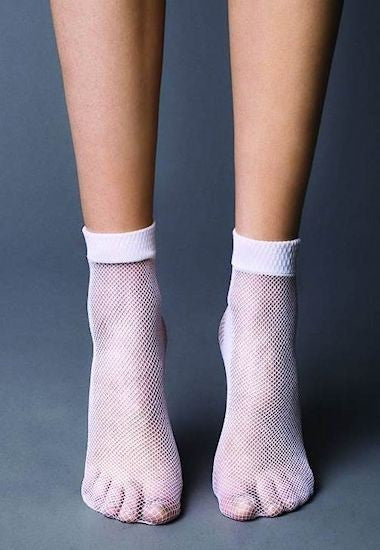 Rete Fishnet Patterned Ankle Socks by Veneziana