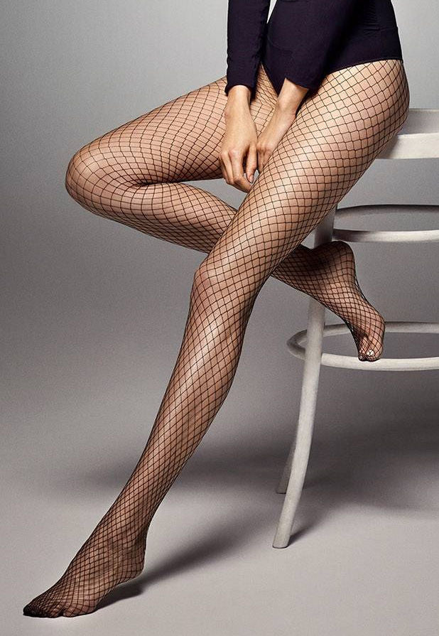 """Adrian /""""TANIA/"""" Patterned Tights 40 Denier 3D-Floral Pattern"""