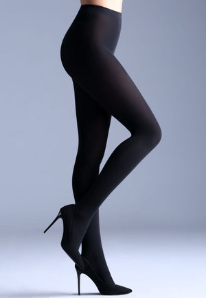 Samba 40 Den Opaque Coloured Tights by Giulia in black