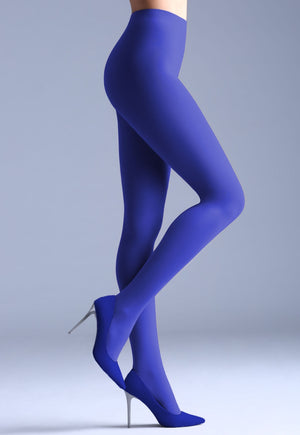 Samba 40 Den Opaque Coloured Tights by Giulia in fluorescent royal blue