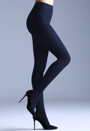 Samba 40 Den Opaque Coloured Tights by Giulia in navy blue