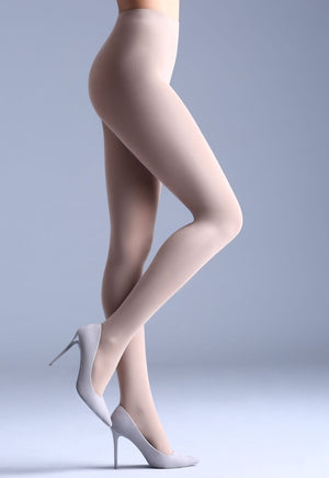 Samba 40 Den Opaque Coloured Tights by Giulia in panna cream ivory white