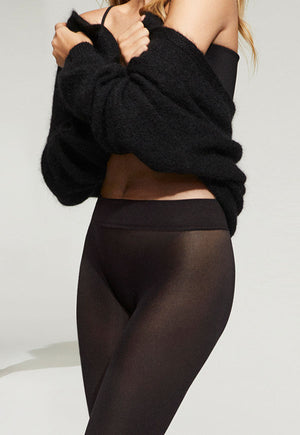 Comfort 70 Den Seamless Opaque 3D Tights by Golden Lady in black